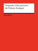 Pequeño Diccionario de Falsos Amigos