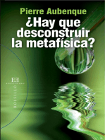 ¿Hay que desconstruir la metafísica?
