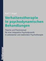 Verhaltenstherapie in psychodynamischen Behandlungen