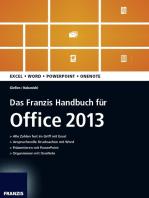 Das Franzis Handbuch für Office 2013
