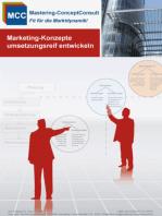 Marketing-Konzepte umsetzungsreif entwickeln