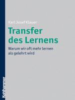 Transfer des Lernens