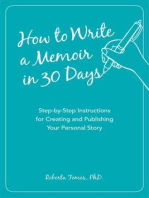 How to Write a Memoir in 30 Days