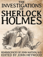 The Investigations of Sherlock Holmes