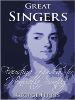 Great Singers: Faustina Bordoni to Henrietta Sontag