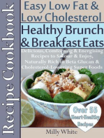 Healthy Brunch & Breakfast Eats Low Fat & Low Cholesterol Recipe Cookbook 55+ Heart Healthy Recipes (Health, Nutrition & Dieting Recipes Collection, #2)