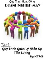 Quy Trình Hoạt Động Doanh Nghiệp May- Tập 4 Quy Trình Quản Lý Nhân Sự Tiền Lương