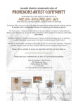 Provisions Artist Community Flier