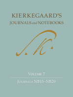 Kierkegaard's Journals and Notebooks, Volume 7