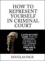 How to Represent Yourself In Criminal Court