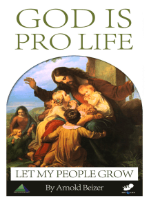 God Is Pro Life
