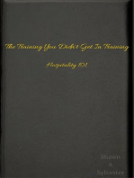 The Training You Didn't Get In Training