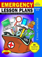 Emergency Lesson Plans - Grades 5-6