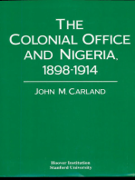 The Colonial Office and Nigeria, 1898-1914