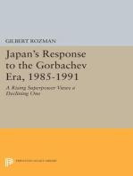 Japan's Response to the Gorbachev Era, 1985-1991