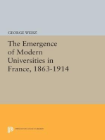 The Emergence of Modern Universities In France, 1863-1914