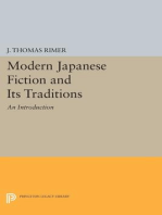 Modern Japanese Fiction and Its Traditions