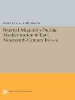 Internal Migration During Modernization in Late Nineteenth-Century Russia