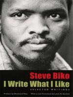 I Write What I Like