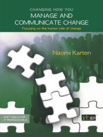 Changing how you manage and communicate change