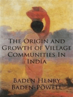 The Origin and Growth of Village Communities In India