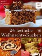 24 festliche Weihnachts-Kuchen