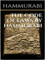 The code of laws by Hammurabi
