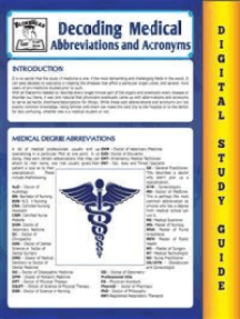 Medical Abbreviations and Acronyms (Blokehead Easy Study Guide)