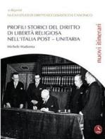 Profili Storici Del Diritto Di Libertà Religiosa Nell'Italia Post – Unitaria