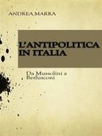 L'antipolitica in italia