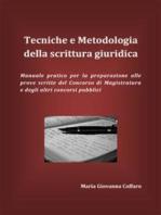 Tecniche e Metodologia della scrittura giuridica