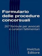 Formulario delle procedure concorsuali