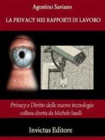 La privacy nei rapporti di lavoro