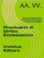 Prontuario di diritto ecclesiastico