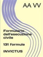 Formulario dell'esecuzione civile