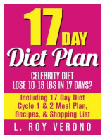 17 Day Diet Plan: Celebrity Diet- Lose 10-15 lbs in 17 Days? Including 17 Day Diet Cycle 1 & 2 Meal Plan, Recipes, & Shopping List (The 17 Day Diet Book)