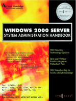 Windows 2000 Server System Administration Handbook
