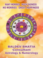 Many Worries Much Sadness No Worries Great Happiness