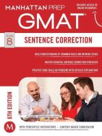 GMAT Sentence Correction