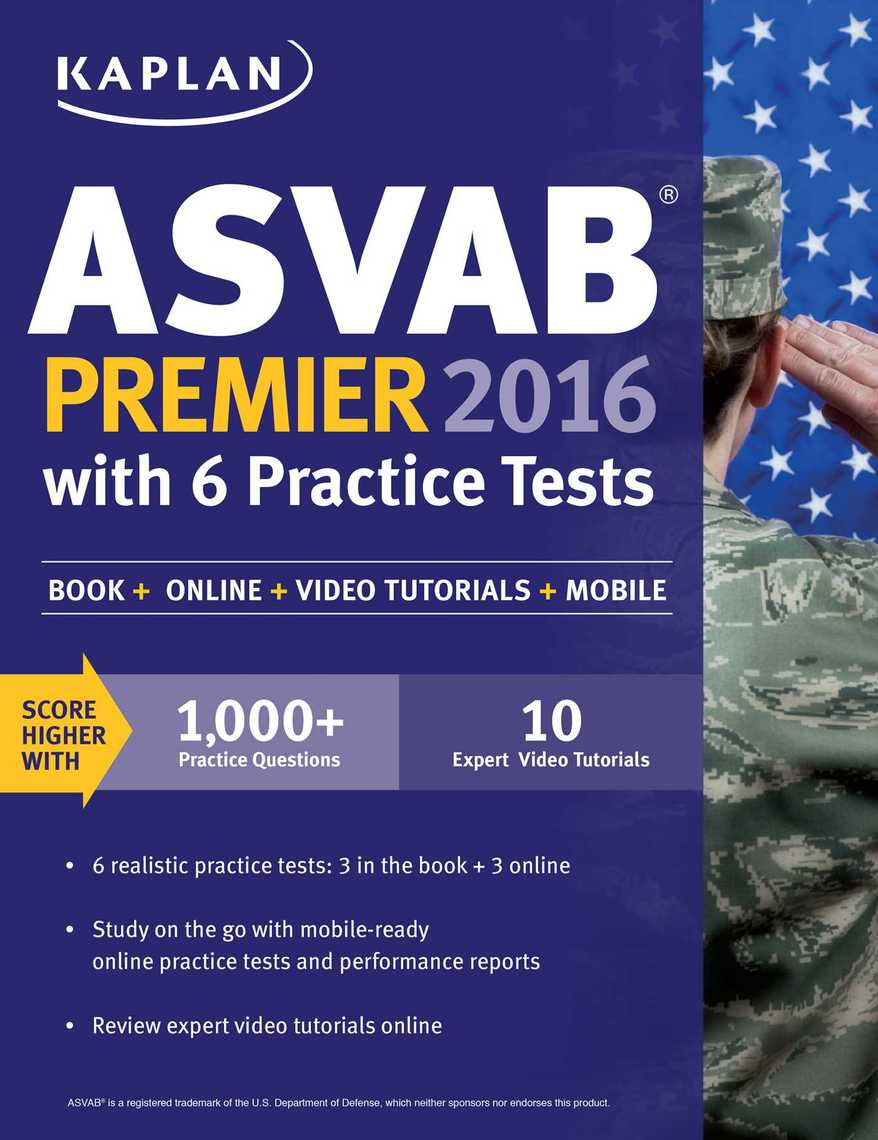 Kaplan asvab premier 2016 with 6 practice tests by kaplan test prep kaplan asvab premier 2016 with 6 practice tests by kaplan test prep by kaplan test prep read online fandeluxe Images