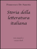Storia della letteratura italiana di Francesco De Sanctis in ebook
