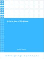 John's Use of Matthew