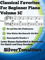 Classical Favorites for Beginner Piano Volume 1 C