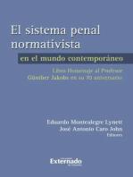 El sistema penal normativista