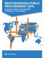 Benchmarking Public Procurement 2016: Assessing Public Procurement Systems in 77 Economies