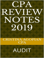 CPA Review Notes 2019 - Audit (AUD)