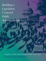 Building a Legislative-Centered Public Administration