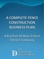 A Complete Fence Construction Business Plan