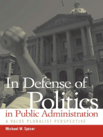 In Defense of Politics in Public Administration