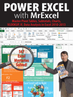 Power Excel with MrExcel: Master Pivot Tables, Subtotals, Charts, VLOOKUP, IF, Data Analysis in Excel 2010–2013